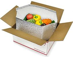 10 Pack Thermal box 8 x 8 x 8 Foil Insulated Box Liners. Bot