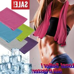 10 Pack Instant Ice Cooling Towel Sports Workout Fitness Gym