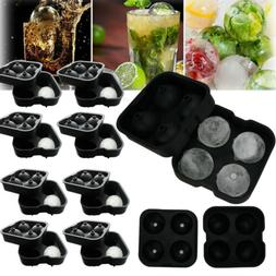 Lots Round Ice Balls Maker Tray FOUR Large Sphere Molds Cube