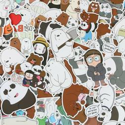 100pcs We Bare Bears Stickers Pack, Ice Bear Stickers, Cute