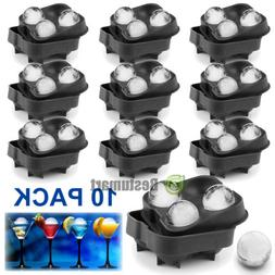 10x ICE Balls Maker Round Sphere Tray Mold Cube Whiskey Ball