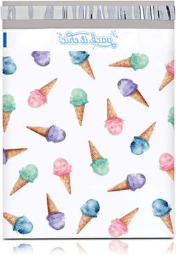 Pack It Chic - 10X13 100 Pack Ice Cream Pattern Poly Mailer