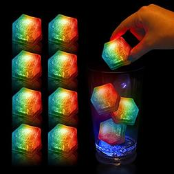 Multi Color Light-Up LED Ice Cubes Bulk with Changing Light