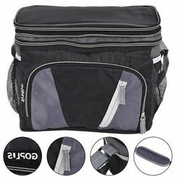 12 Can Double-layer Cooler Bag Ice Pack Lunch Container Zipp