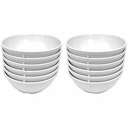 Clipper Commercial 12 Pack Set - Melamine Nappie Bowl, White