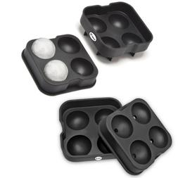 2 Pack Ice Ball Maker Sphere Tray Mold Cube Balls Silicone I