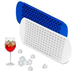 2 Pack Ice Cube Maker Molds 160 Mini Small Trays Silicone Ba