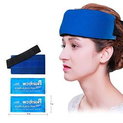 2 Reusable Gel Ice Packs, Universal Migraine Relief Cold Pac