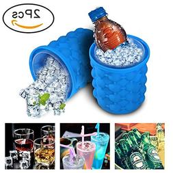 2018 New Ice Cube Maker Genie - Silicone Ice Bucket Dual-use