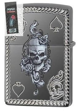 Zippo 29666 Ace of Spades-Skull Black Ice Armor Deep Carved