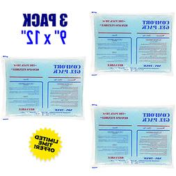 3 Pack Comfort Gel Therapy Pad Ice Reusable Cold Hot Compres