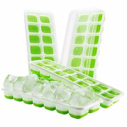 4-Pack Food Grade Silicone Ice Cube Trays Grids IceCube Make