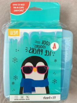 4 Pack Slim Reusable Ice Packs For Lunch Boxes Bags And Cool