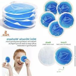 "5 Pack 4"" Circle Gel Ice Packs -Small Reusable Washable Roun"