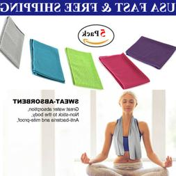 5 Pack Ice Cold Instant Cooling Towel Running Jogging Gym Ch