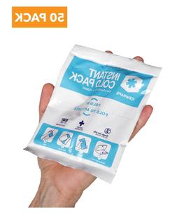"IceWraps 5"" x 6"" Instant Cold Breakable Ice Packs - 50 P"