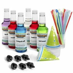 Hawaiian Shaved Ice 6 Flavor Fun Pack   Includes 6 Snow Cone
