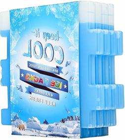6 Pcs Ice Packs Cool Pack For Lunch Box Freezer Bags & Coole