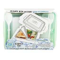 9 Piece Bento Lunch Box With Ice Pack Keep your Lunch Cold a