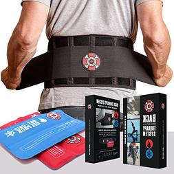 Back Brace with Ice Packs by Old Bones Therapy - Ice or Heat