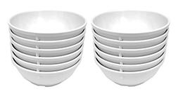 Clipper Commercial 12 Pack Set - Melamine - Nappie Bowl, Whi