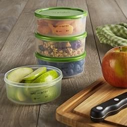 Fit & Fresh Smart Portion 1/2 Cup Chilled Containers, Set of