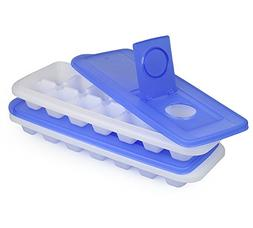 Ice Cube Trays With Lid - Set of 2 Ice Trays By ChefLand | E