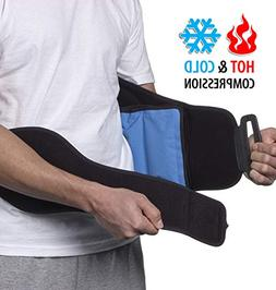NatraCure Hot/Cold Compression Lumbar Support Back Brace/Wra