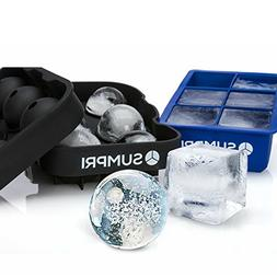 SUMPRI Sphere Ice Mold & Big Ice Cube Trays Novelty-Silicone