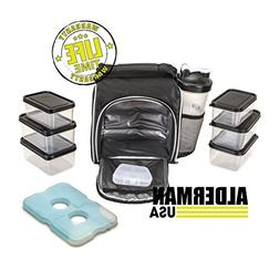 Alderman USA Portion Control Meal Prep Bag and Container Set