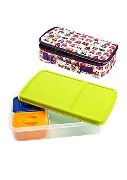 Fit & Fresh Bento Lunch Box Kit with Insulated Bag and Reusa