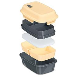 Fresh Box Premium Bento Lunch Box - Leakproof, BPA-free, Mul