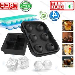 Big Cool Large Sillicone Ice Cube Spherical Trays Mold For B