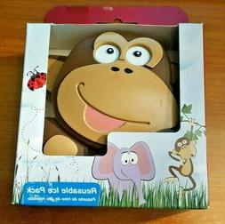 Rubbermaid Blue Ice Fun Shapes Reusable Ice Packs - MONKEY