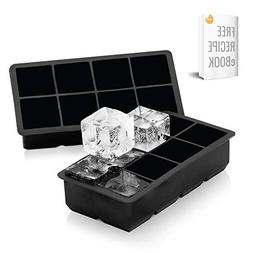 Arctic Chill 2'' Silicone Ice Cube Trays Set of Two  Ice Tra