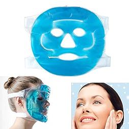 Hot Cold Facial Ice Mask Face Gel Pad Freezable, Reusable- f