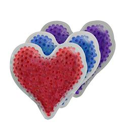 Reusable Hot Cold Packs with Flexible Gel Beads - Heart Shap