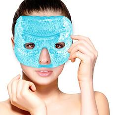 Hot and Cold Therapy Gel Bead Facial Eye Mask by FOMI Care |