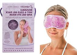 Nemocky Hot and Cold Therapy Gel Pack & Gel Eye Mask with Fl