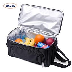 Unigear Cooler Bag, 24-Can Soft Insulated Double Deck with A