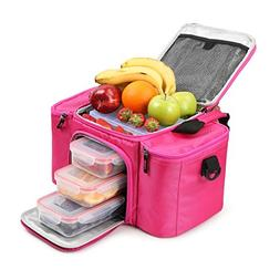 RitFit Cooler&Warm Meal Insulated Lunch Bag with Snap Lid Co