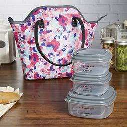 Fit & Fresh Davenport Stylish Insulated Lunch Bag with Reusa