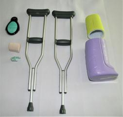 American Girl Doll Feel Better Kit Cast Crutches Ace Bandage