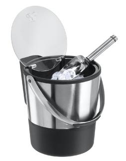 Oggi Double Wall Ice Bucket with Flip Lid and Stainless Ice