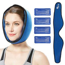 Face ice Pack for Jaw, Head and Chin, Adjustable Hot and Col