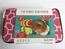 Fit & Fresh Bento Lunch Box Kit with Insulated Tote Removabl