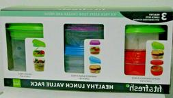 Fit & Fresh Healthy Lunch Value Pack 15 Piece Set with 3 rem