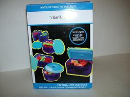 Fit & Fresh Kids Chilled Lunch Container Set With Built-In I