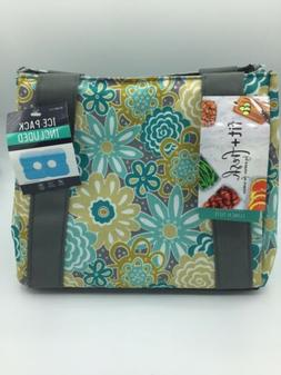 Fit & Fresh Women's Insulated Lunch Bag With Ice Pack Floral