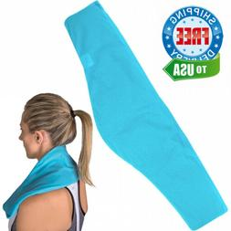 """IceWraps Flexible Gel Cold Pack for Therapy - 6""""x23"""" Neck an"""